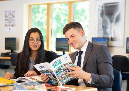 Sixth Form classroom Careers destinations fair
