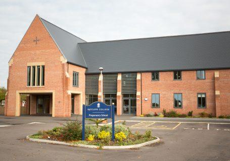 Prep school building exterior