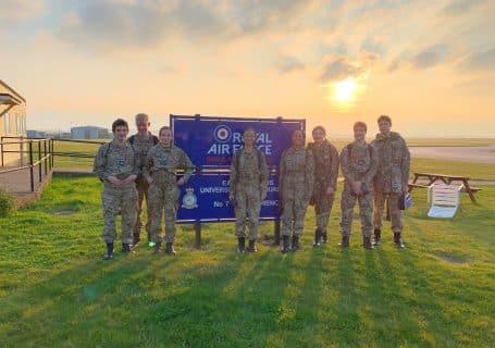 Ratcliffe Cadet RAF Cadet Flying Day Cranwell group photo
