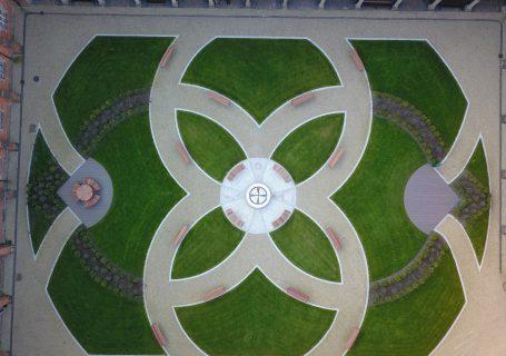 Lockhart garden arier view drone shot