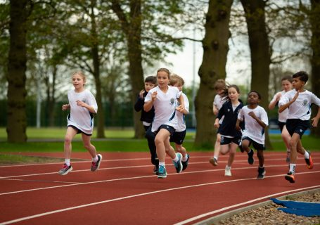 new athletic track sports day
